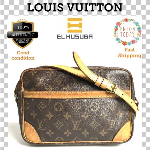 💯 Auth Louis Vuitton Crossbody Bag Trocadero 27